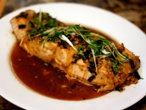 Steamed Salmon in Oyster Sauce