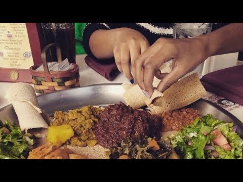 First time eating Ethiopian Food