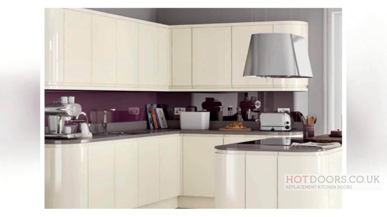 Hot doors replacement kitchen cupboard doors youtube for Cabinet refacing price range