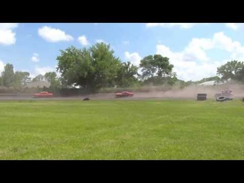 Grant County Speedway, Herman, Minnesota - Vintage stock car racing action!