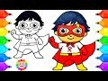 How to Draw a Super Hero boy Ryan from Ryan Toys Review Drawing for Kids