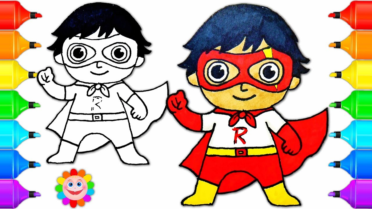 How to Draw a Super Hero boy Ryan from Ryan Toys Review Drawing for ...
