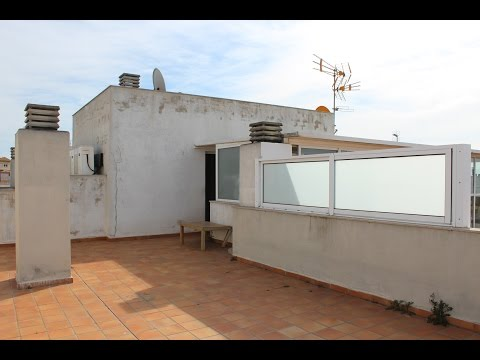Reforma virtual de terraza en apartamento en venta en Sant Feliu de Guixols (Girona)