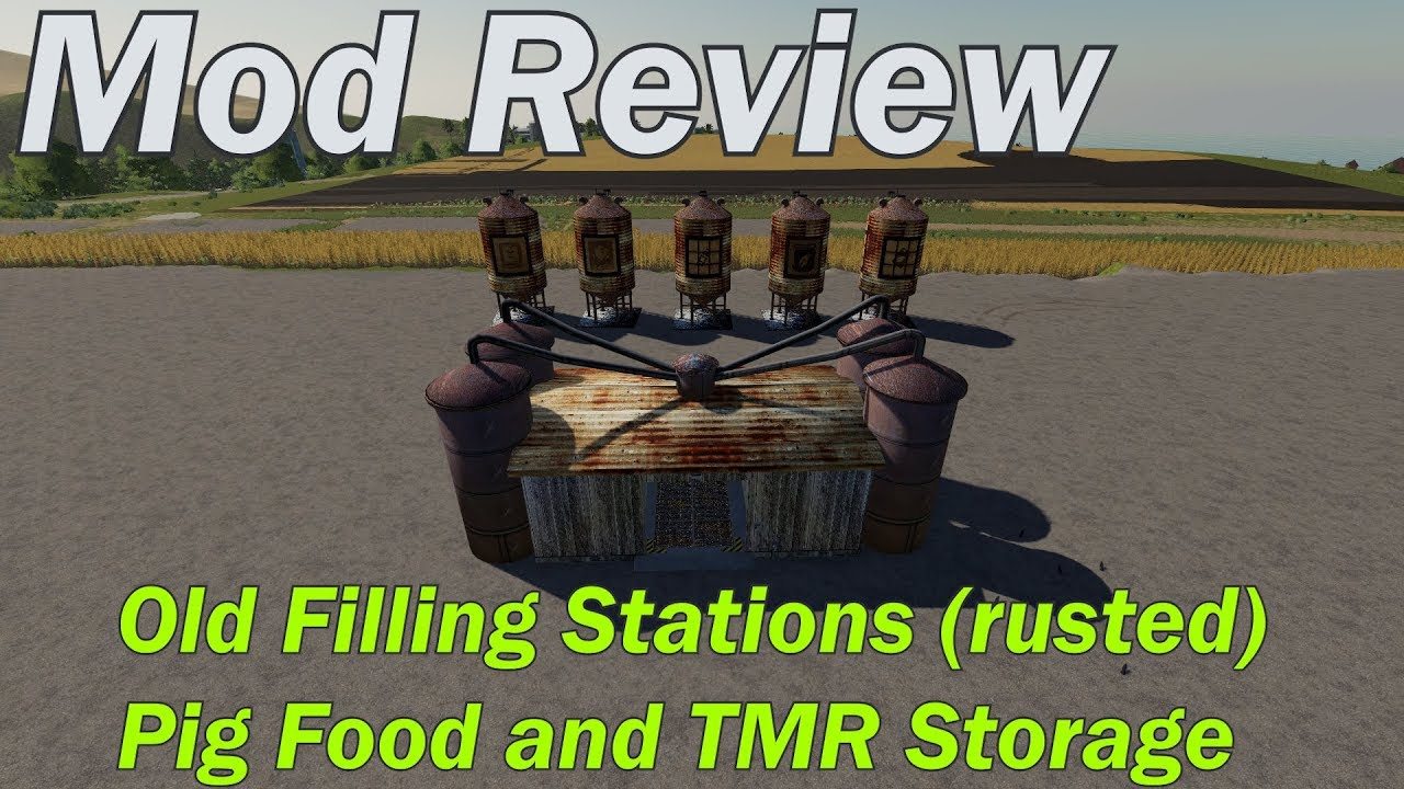 Mod Review - Old looking Fill Stations and Pigfood and TMR Storage silo