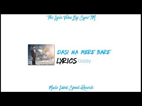 Dasi Na Mere Bare | Lyrics | Goldy | Latest Punjabi Song 2016 | Syco TM