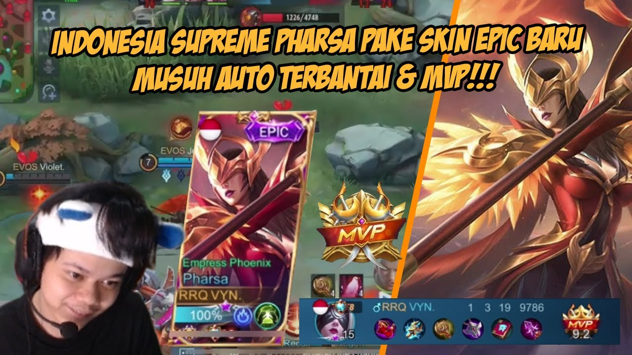 INDONESIA NO 8 PHARSA PAKE SKIN EPIC BARU PHARSA ? AUTO BANTAI + MVP