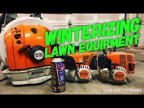 HOW TO Winterize Lawn Equipment [Winterize & Store Trimmers/Blowers]