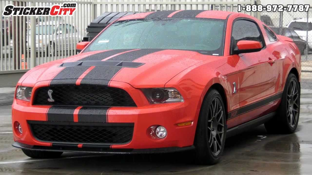 Shelby Mustang Cobra Gt500 3d Carbon Fiber Vinyl Stripes