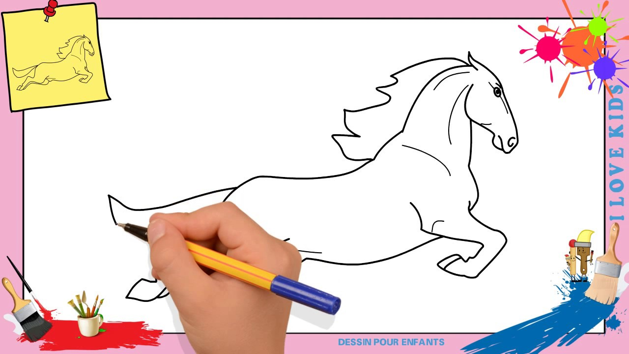 Dessin Cheval 2 Facile Comment Dessiner Un Cheval Facilement Etape
