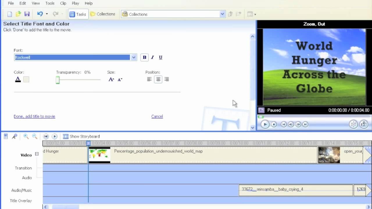 Using Windows Movie Maker - E04 - Create Text Overlays - iSkills.mov - YouTube
