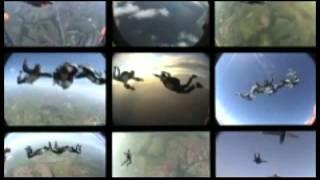 Renata Cunha 15 09 2013 - salto duplo em Boituva com a SkyRadical Paraquedismo