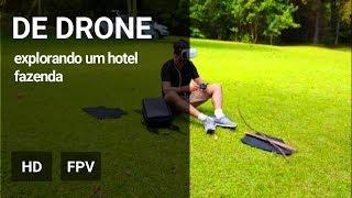 De drone no Hotel Fazenda de Piratuba