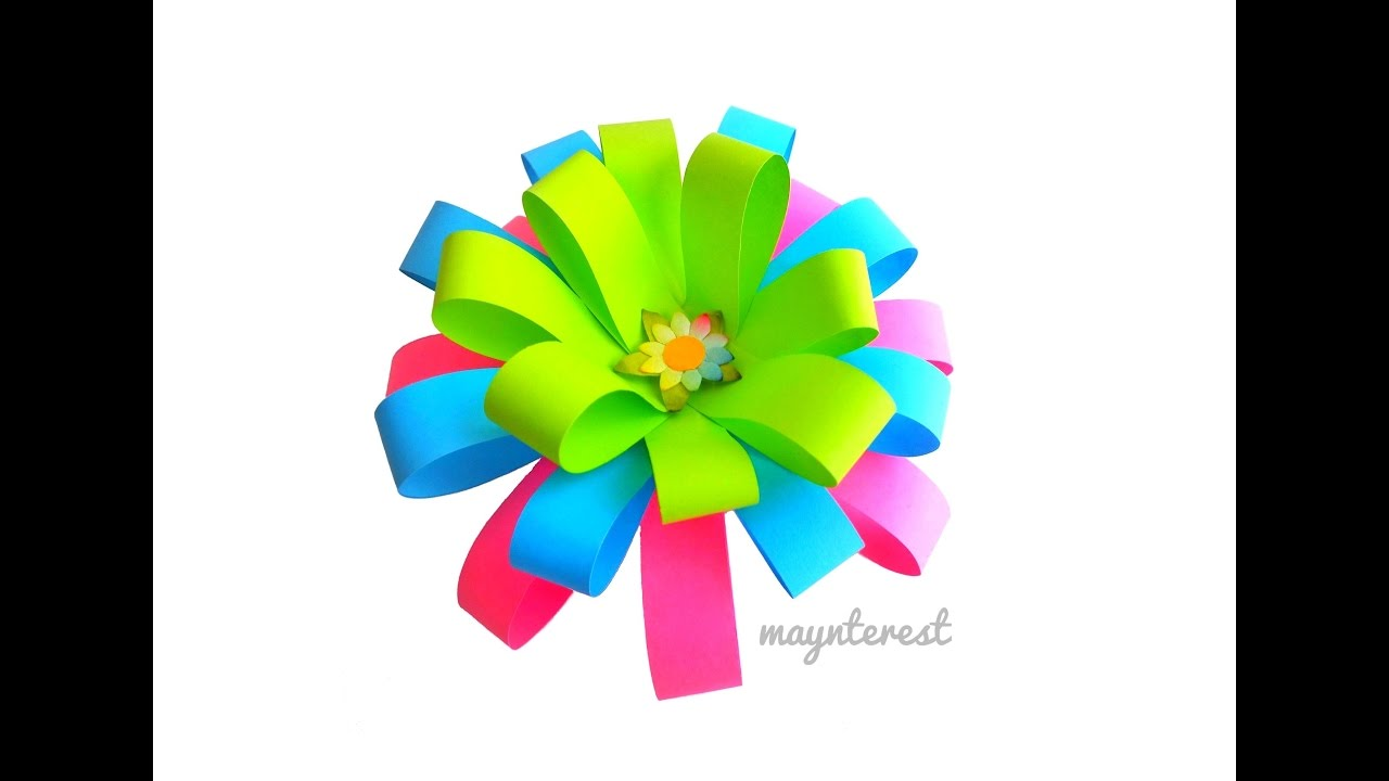 Diy flor de papel para adornar o decorar regalos manualidades youtube - Papel autoadhesivo para decorar ...