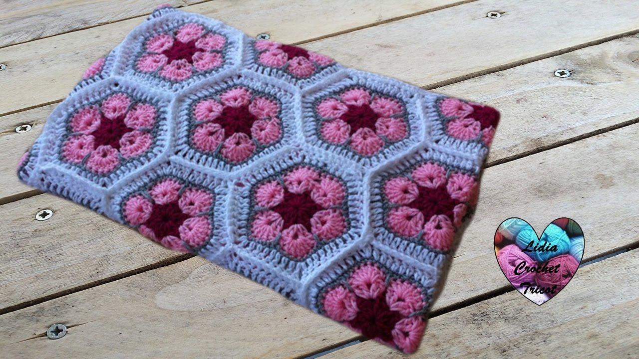 Couverture Bebe Crochet Fleur Africaine Baby Blanket African Flowers