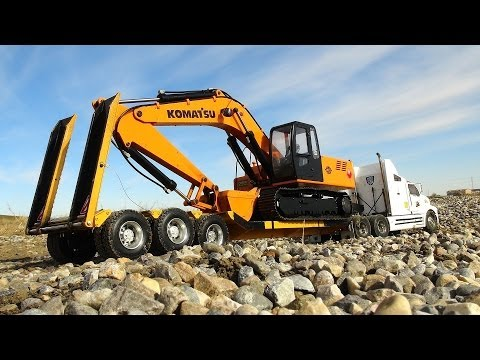 RC ADVENTURES - Scale Trucking & Construction Scene (Excavator, Dump Truck, Ford AeroMax Semi)
