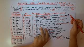 Almanca Aylar ve Mevsimler  Monate und Jahreszeiten  35.Bölüm