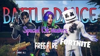 Gambar cover Battle dance pubgm,fortnite,free fire