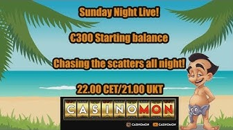 Sunday Night Live - €300 Start playing slots online!