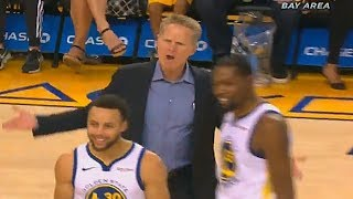 Stephen Curry Gets Technical Foul Then Steve Kerr Gets Ejected From The Game! Warriors vs Suns