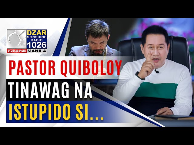 Pastor Quiboloy, pinuna ang plano ni Pacquiao