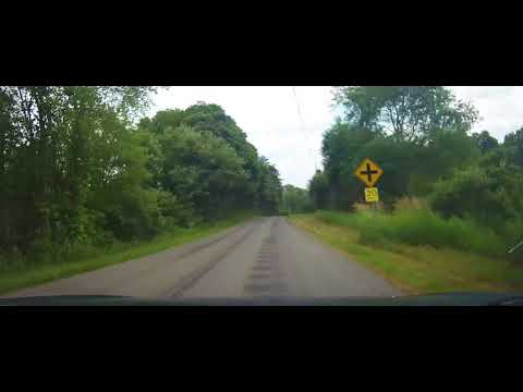 Driving on Gehrton Road in Crawford County, Pennsylvania