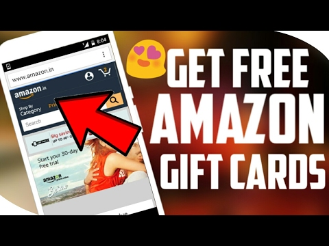 How to get free amazon gift cards India    Hindi Get 5$/300₹ Gift Card From Amazon Easily