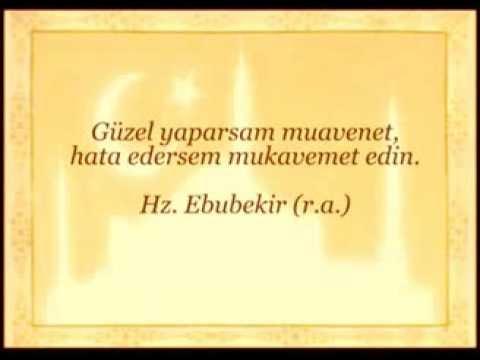 Hz. Ebubekir Efendimizin Bazı Sözleri