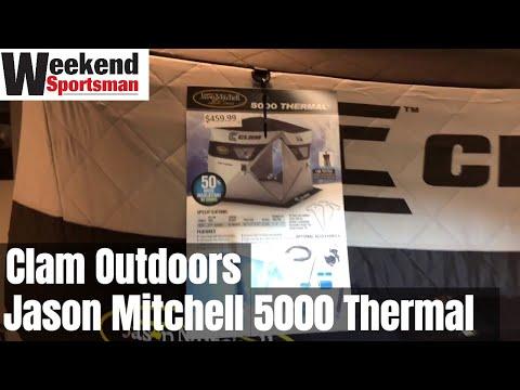 #ClamOutdoors Jason Mitchell JM 5000 Thermal Ice Fishing Shelter | Weekend Sportsman