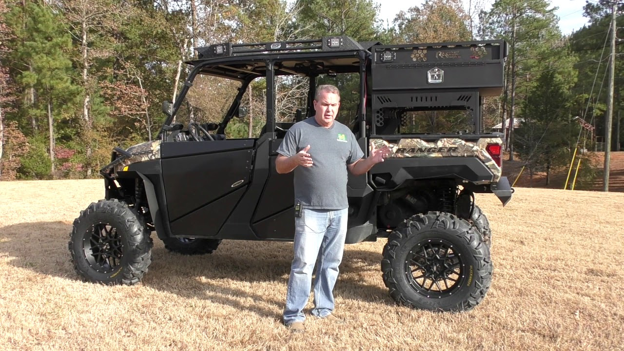 overview of our waterfowl duck hunting polaris xp 1000 ranger crew build