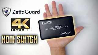 4K HDMI Switch Unboxing (Zettaguard ZW310)