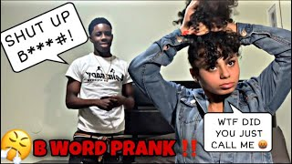 """Calling My Crush The """"B"""" WORD PRANK To See Her Reaction... *NEVER AGAIN 😳*"""