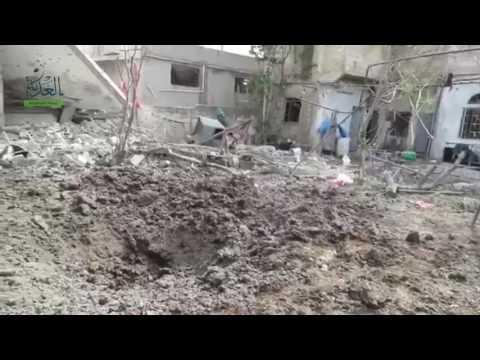 طائرات الاسد تدمر مساجد الحولة