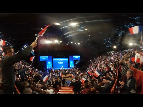 360 video: Le Pen, Macron and Melenchon kick-off French presidential campaign