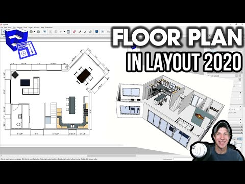 Creating a Floor Plan in LAYOUT 2020 from a SketchUp Model - Layout 2020 Part 1