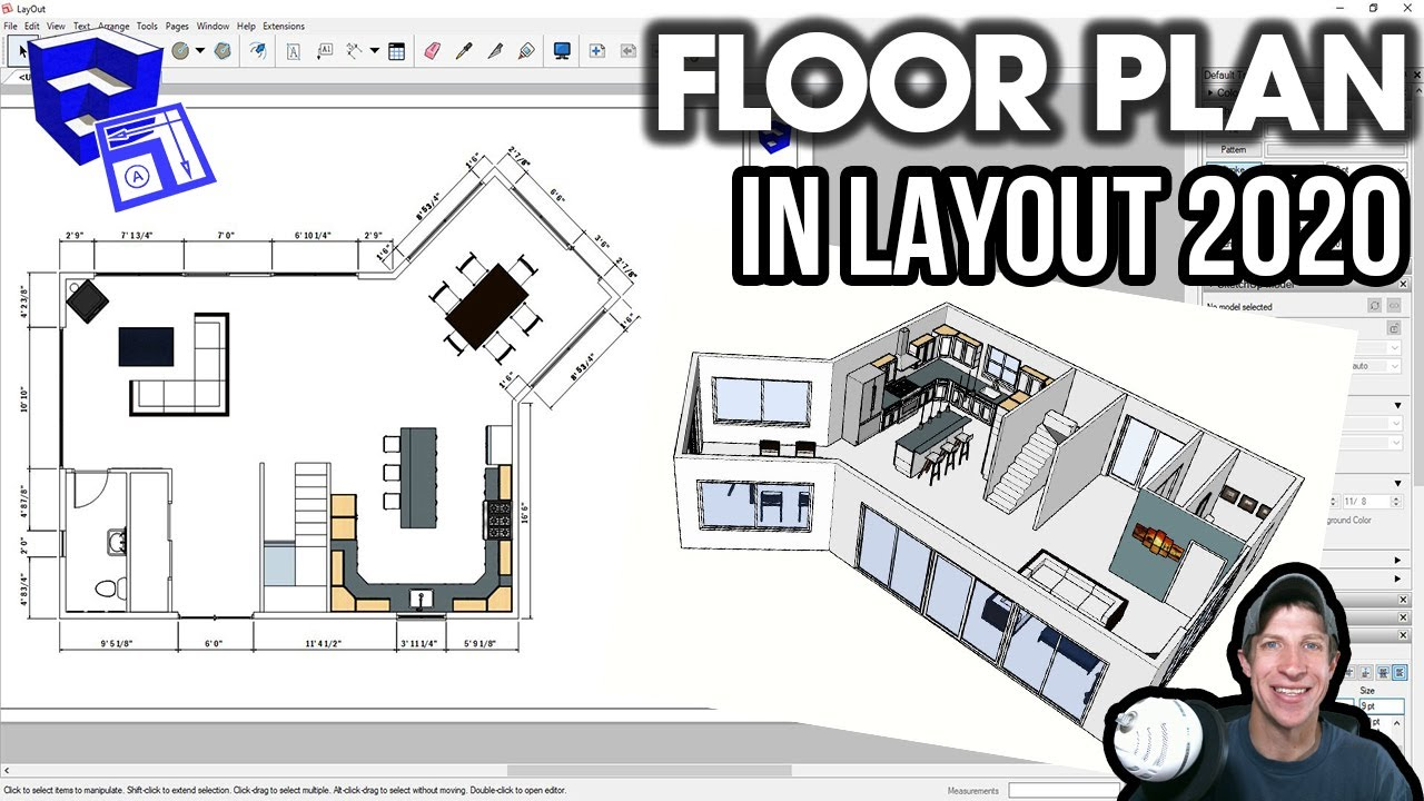 Creating A Floor Plan In Layout 2020 From A Sketchup Model Layout 2020 Part 1 Youtube