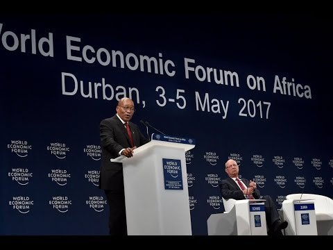 President Jacob Zuma addresses the World Economic Forum on Africa Meeting in Durban