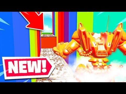 CE ROBOT RAINBOW DEATHRUN est impossible ... sur Fortnite Créatif !