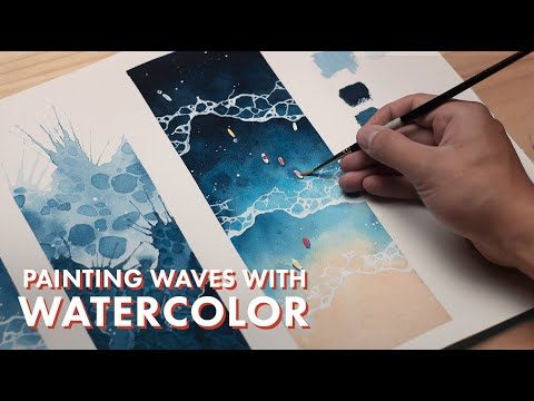 WATERCOLOR TUTORIAL // How to Paint Waves