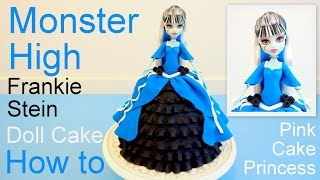 Monster High Frankie Stein Doll Cake How to by Pink Cake Princess