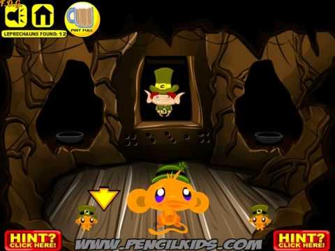 Monkey Go Happy Leprechauns Walkthrough (Счастливая обезьянка: лепреконы) - прохождение игры