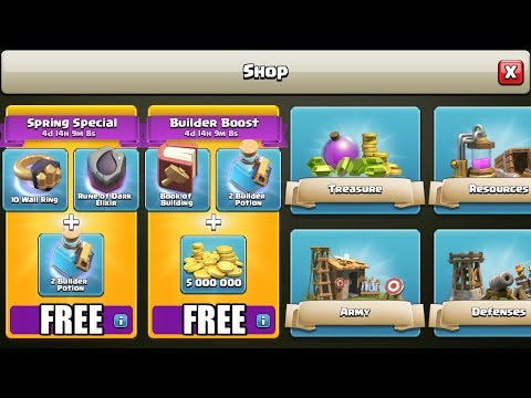 Clash of Clans - HOW TO GET FREE SPRING SPECIAL & BUILDER BOOST PACK!