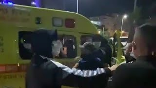Palestinian Rioters In Israel, Attacking An Ambulance And It's Paramedics