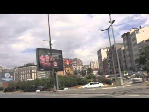 Driving Around the Streets of Istanbul, Turkey - 1st August, 2012 (HD)