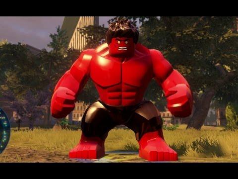 LEGO Marvel's Avengers - Red Hulk Unlock Location + Free Roam (Character Showcase) poster