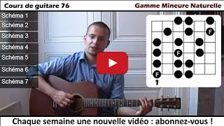 Cours de guitare | Gamme mineure naturelle (+fichier PDF)