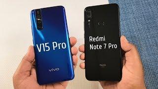 Vivo V15 Pro vs Redmi Note 7 Pro SpeedTest u0026 Camera Comparison