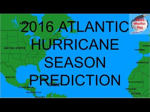 2016 Atlantic Hurricane Season Prediction Animation