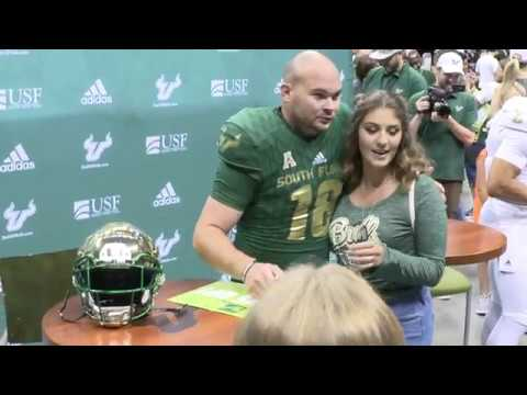 7cb266a4c USF Football Legends Model new adidas uniforms - YouTube