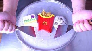 Ice Cream Rolls | McDonalds - Hamburger, Fries & Chicken Nuggets Ice Cream | oddly satisfying