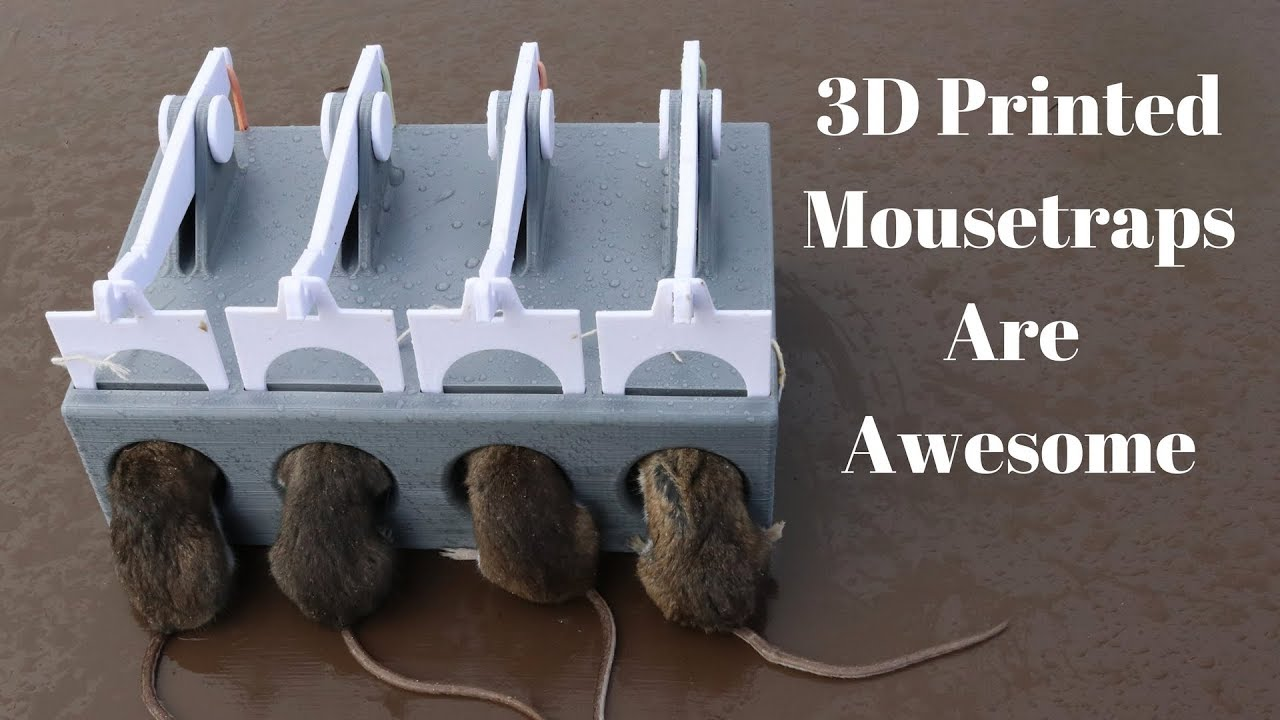 3d Printed Mousetraps Are Awesome  3d Printed Mascall Spring Mousetrap With New 4 Hole Design